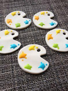 Edible Paint Palettes #edibledecorations #cupcaketoppers #art