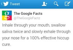 I'm interested to see if this works. Not that I want the hiccups.