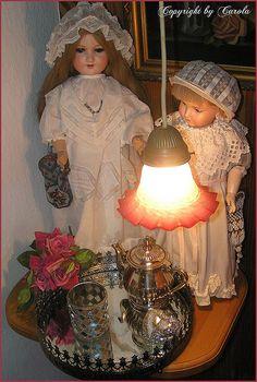 Vintage dolls at mom's