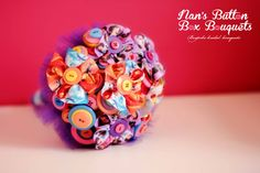 Handmade Disney ribbon flowers bring some childhood whimsy to a gorgeous flower girl bouquet