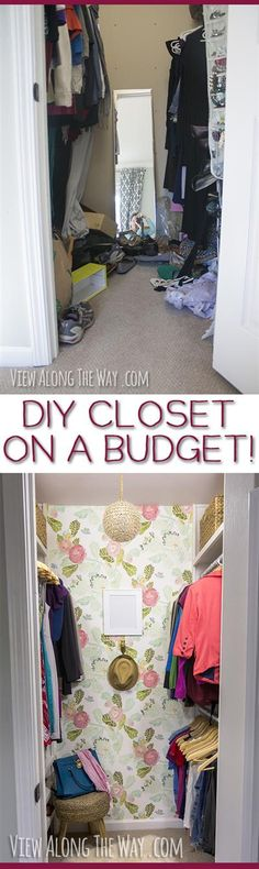 ADORE! Stunning closet makeover and a million brilliant ideas to steal for your home! stun closet, closet organization, closet makeovers, bedroom makeovers, hous, master closet, diy closet makeover, apart, closet makeover diy