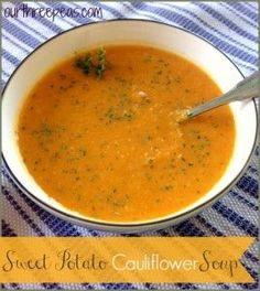 Sweet Potato Cauliflower Soup - Our Three Peas
