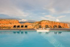 Imagine taking a dip in here after a long day on the ranch, watching the sun set over the canyons walls while listening to Coyotes howl. Caesars Palace has nothing on this pool. Photograph by Robert Wright
