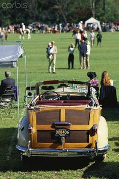A vintage car, a huge Fortnum and Mason's picnic hamper, and champagne in the boot; perfect for watching an afternoon's Polo.