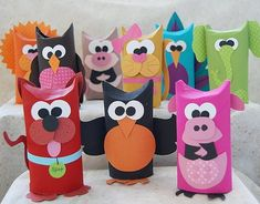 Toilet paper roll animals. Cute!