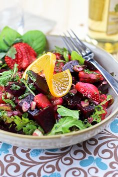 Beet Strawberry and Orange Salad   by Sonia! The Healthy Foodie