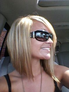 Original Pin: Angled bob....love love love!  My Opinion: I really like this cut.  I miss the long but love this too