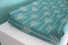marine arrow contoured changing pad cover by iviebaby on Etsy, $35.00
