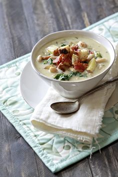 Rosemary Chicken Chowder with White Beans from Good Life Eats
