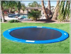 In-ground trampoline!!!.