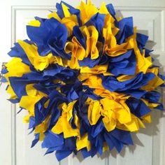 WVU DIY wreath
