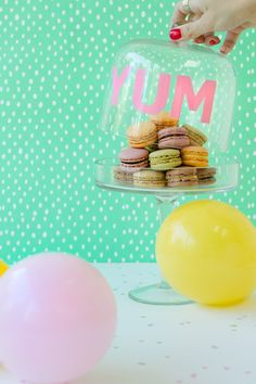 DIY Stenciled Cake Dome