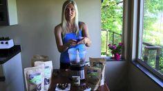 Raw vegan chocolate peanut butter brownie cups. Recipe video.