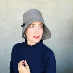 Grey gray rain hat womens cloche : LOVE THESE HATS!!!!!