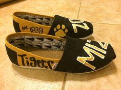 Custom Collegiate Gameday TOMS Mizzou Tigers by LaClareDesigns