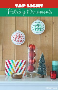 Tap wall light holiday ornaments @clubchicacircle