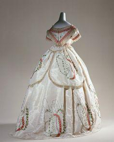 Evening dress c1864 - France
