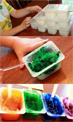 Homemade Finger Paint for toddlers