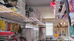 This picture is a great example of the MASSIVE amount of storage space you actually have in your garage!  Imagine all of that stuff off of those shelves and on the floor!  What a mess that would be!
