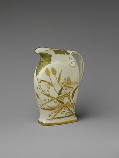 Pitcher  Made by Ott and Brewer (1871–1893)  Date: 1880–90