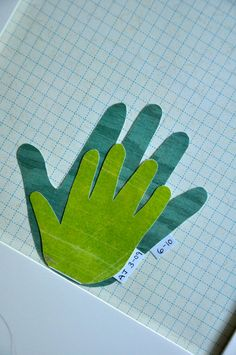 Trace hand every year as child grows