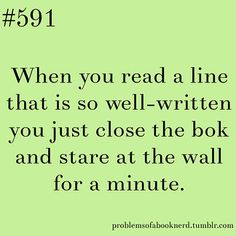 When you read a line...