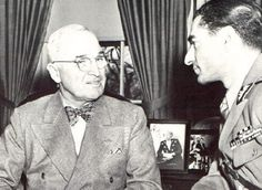 Mohammed Reza Shah and US President Truman in 1949 (Bow tie!)