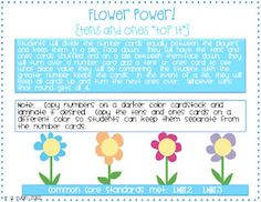 Flower Power! (A New Math Game)