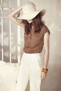 brown + cream