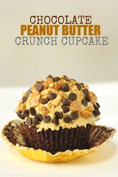 Peanut Butter Crunch Cupcakes