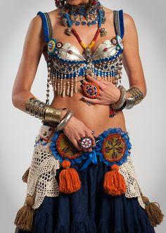 Tribal Belly Dance Bra Tribal Belly Dance Top by DancingTribe, $220.00