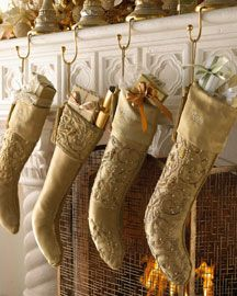 Gold Beaded Christmas Stockings from NM!!!