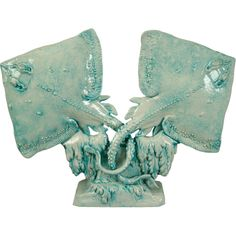 1930's Sculpted Ceramic Stingrays