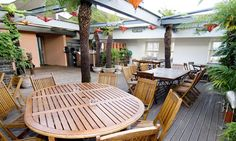 The roof terrace at the Century Club on Shaftesbury Avenue. Great place for an evening cocktail after a day of meetings with clients downstairs.