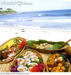 Carribean food display