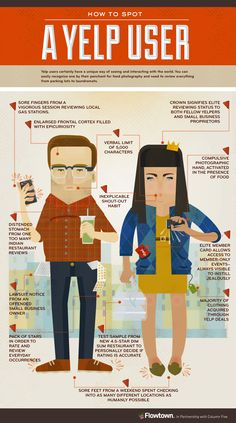 How to spot a Yelp user - on a lighter note #socialmedia #infographics