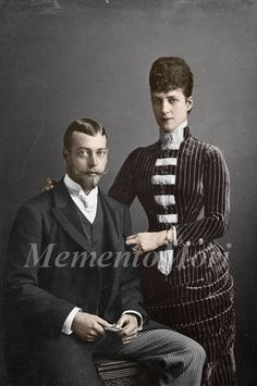 (future) Queen Alexandra and her son, (future) George V