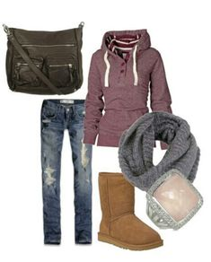 Warm cute clothes for fall exam week #Winter Clothes #Fall Clothes --minus those uggs...-- clothes for winter, winter clothe, warm clothes winter, fall cloth, comfy warm clothes, clothes for fall, clothes fall, clothing winter, clothing for fall