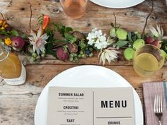 rustic placesetting