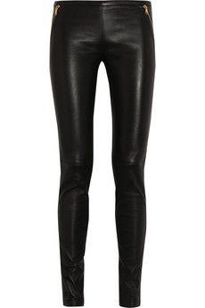 leather legs