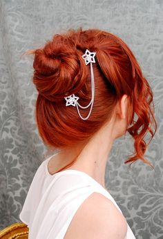 i lOVEE this color shooting stars, hair colors, diy fashion, hair clips, red hair, hair pieces, decorating ideas, girl hairstyles, hair accessories