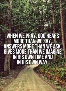 When we pray..