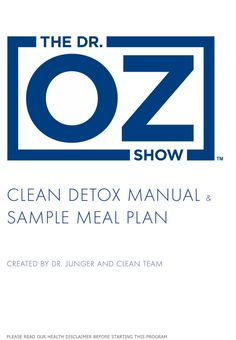 The Clean Detox Manual | The Dr. Oz Show