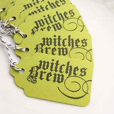 Halloween Favor Tags Witches Brew Gift Tag