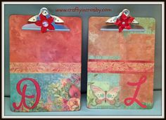 Decorated Clip Boards