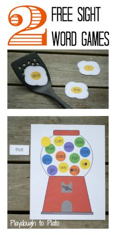 2 fun-filled games that teach children to recognize 24 high frequency words.