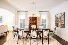 Tilbury Tanglewood transitional dining room