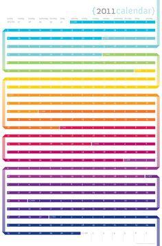 Rainbow Wall Calendar