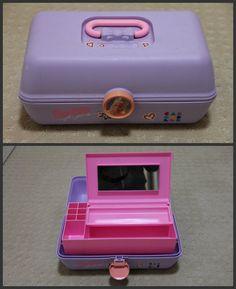 Caboodle Barbie for girls vintage 90s purple makeup organizer case ($29.99) - Svpply