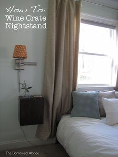 How-to Make a Hanging Wine Crate Nightstand